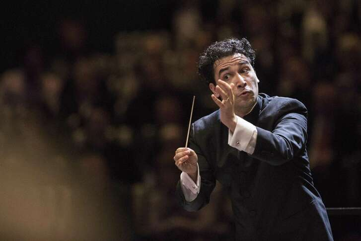 Houston Symphony Music Director Andrés Orozco-Estrada during a previous performance.