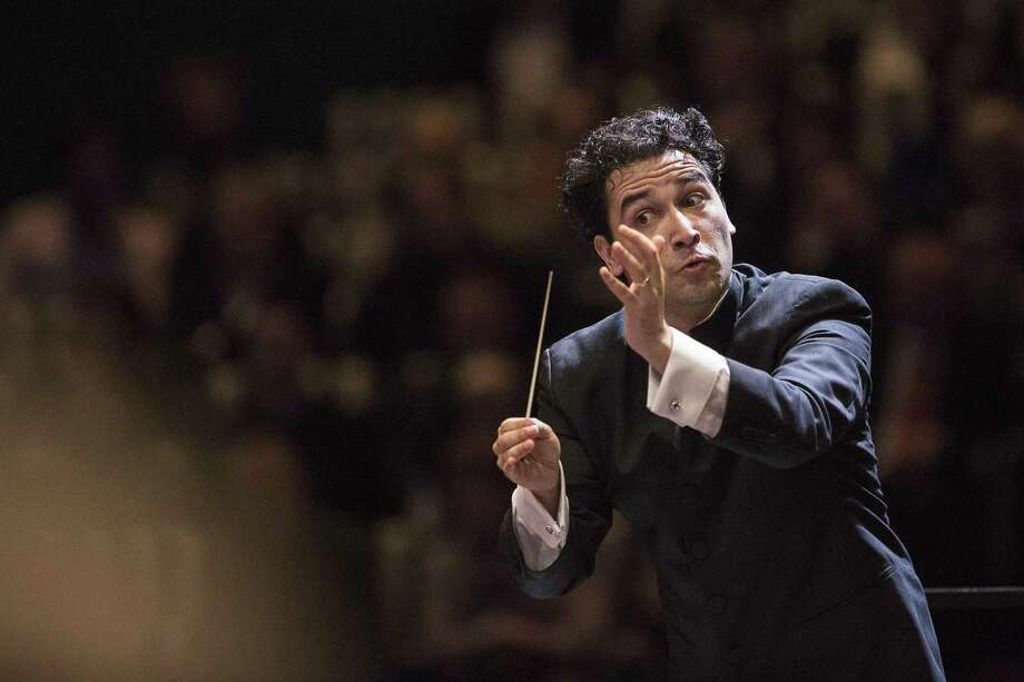 Houston Symphony Music Director Andrés Orozco-Estrada during a previous performance. / Internal