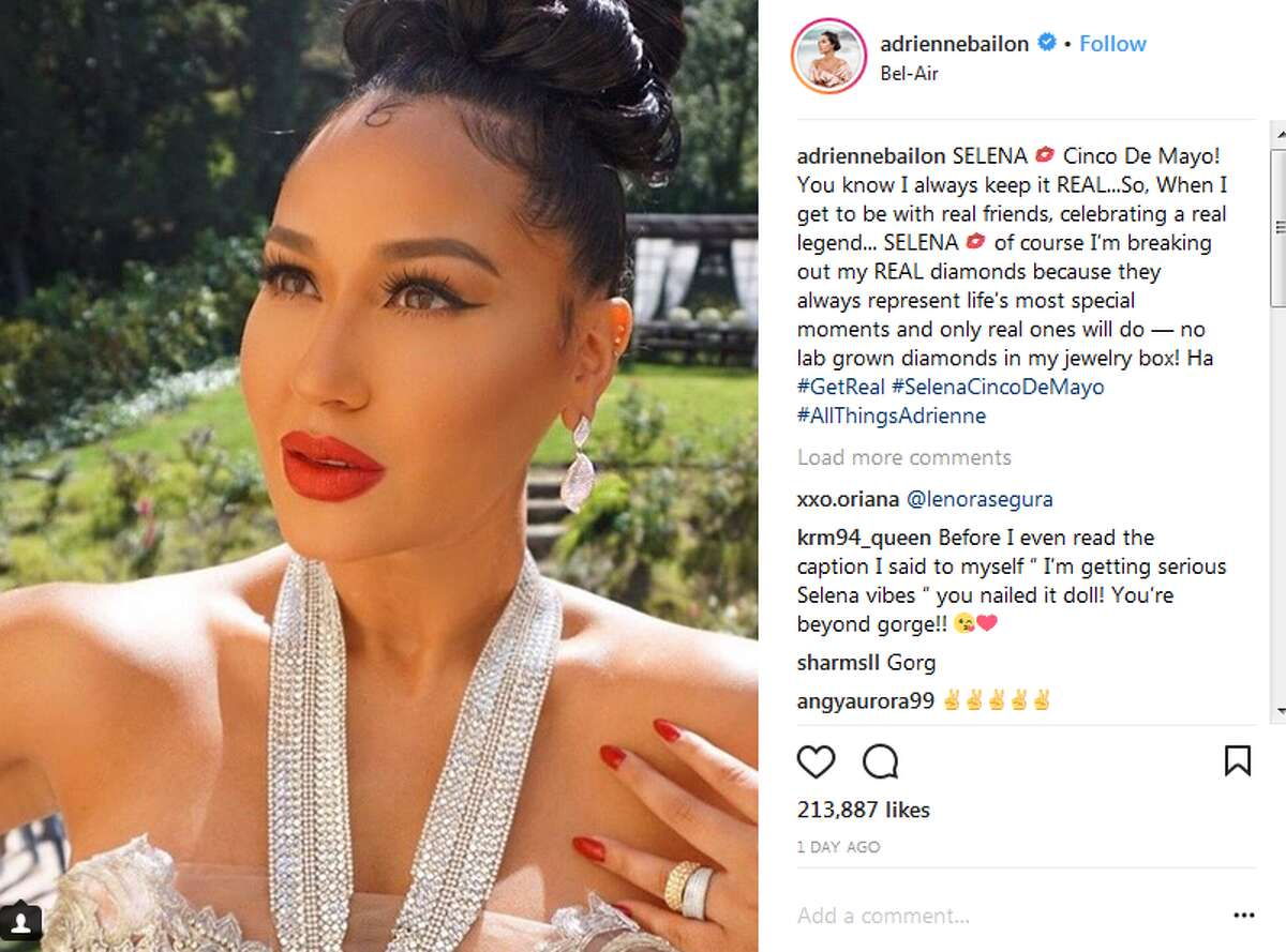adriennebailon: SELENA Cinco De Mayo! You know I always keep it REAL...So, When I get to be with real friends, celebrating a real legend... SELENA of course I'm breaking out my REAL diamonds because they always represent life's most special moments and only real ones will do - no lab grown diamonds in my jewelry box! Ha #GetReal #SelenaCincoDeMayo #AllThingsAdrienne