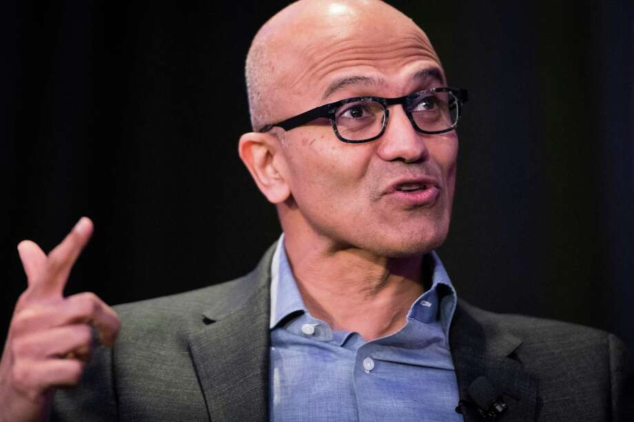 Microsoft CEO Satya Nadella speaks during an Economic Club of New York event in New York on Feb. 7, 2018. Photo: Bloomberg Photo By Mark Kauzlarich. / © 2018 Bloomberg Finance LP