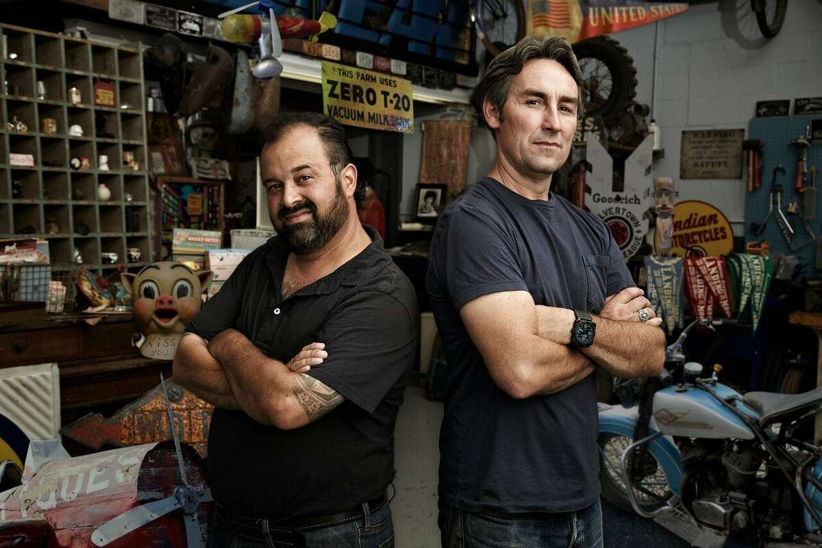 From left to right: Frank Fritz, Mike Wolfe, hosts of American Pickers