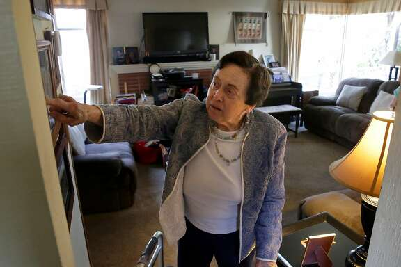 Janet Abelson at her home in El Cerrito, Calif. on Mon. April 23, 2018. Abelson has been renting a room to Blanca Ornelas in her home since April 1st.