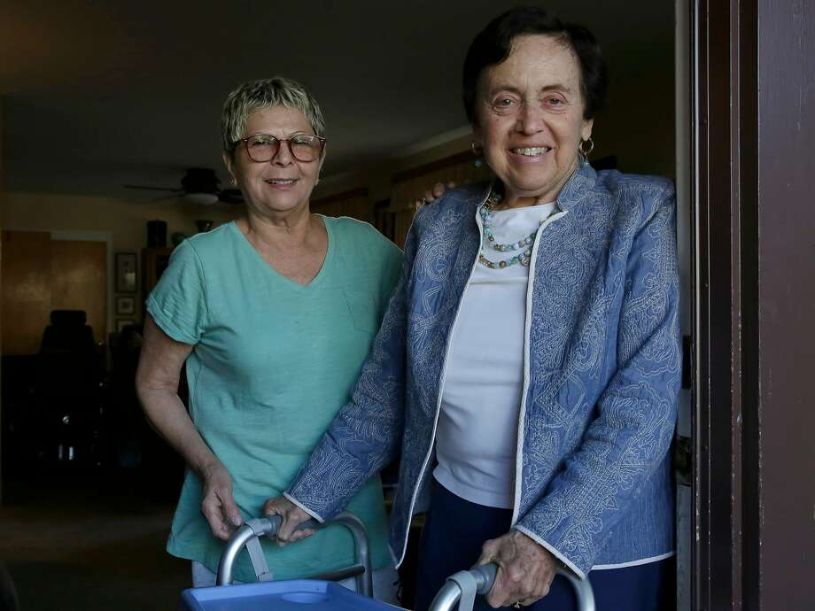 Janet Abelson, (right) with Blanca Ornelas at her home in El Cerrito, Calif. on Mon. April 23, 2018. Abelson has been renting a room to Ornelas in her home since April 1st. Photo: Michael Macor / The Chronicle
