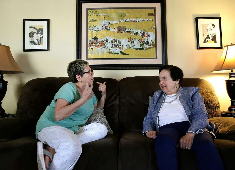 Janet Abelson, (right) with Blanca Ornelas at her home in El Cerrito, Calif. on Mon. April 23, 2018. Abelson has been renting a room in her home to Ornelas  since April 1st. Photo: Michael Macor / The Chronicle