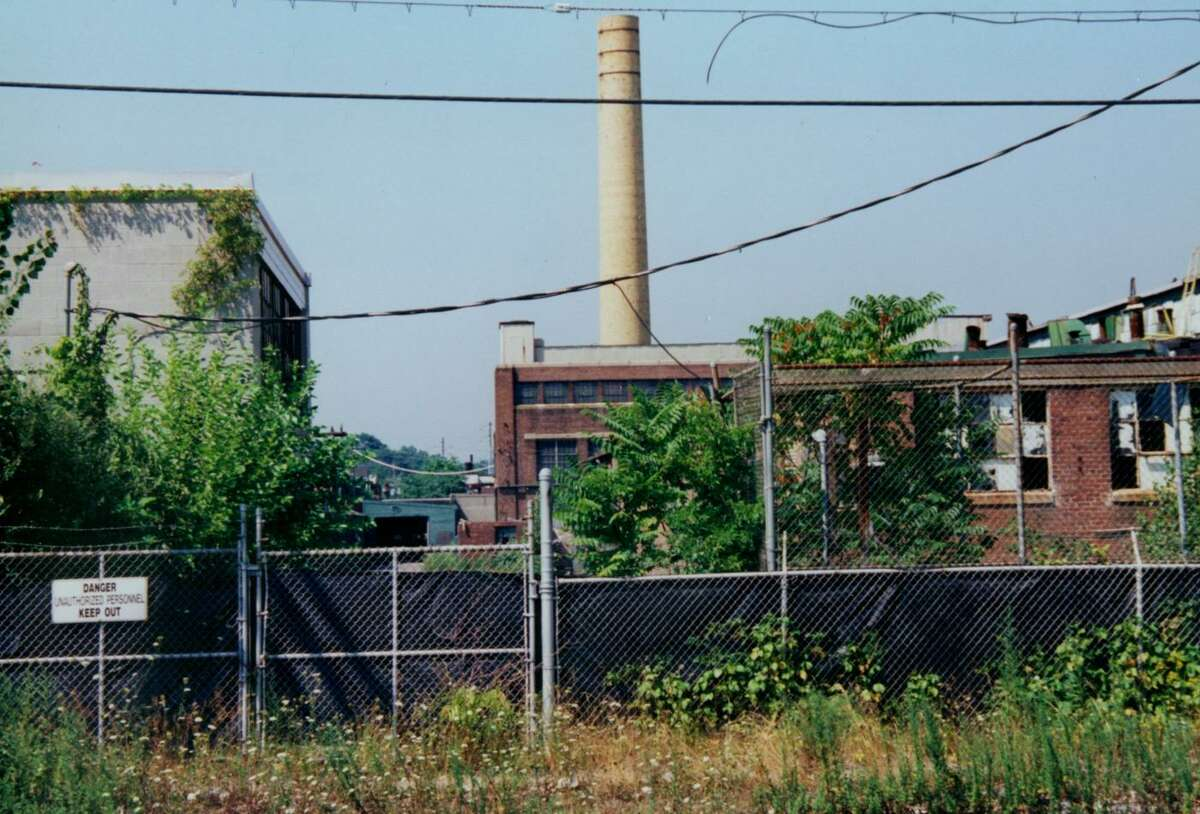 This undated photo provided by the Environmental Protection Agency shows the Raymark property, in Stratford, Conn. prior to demolition in the 1990s.