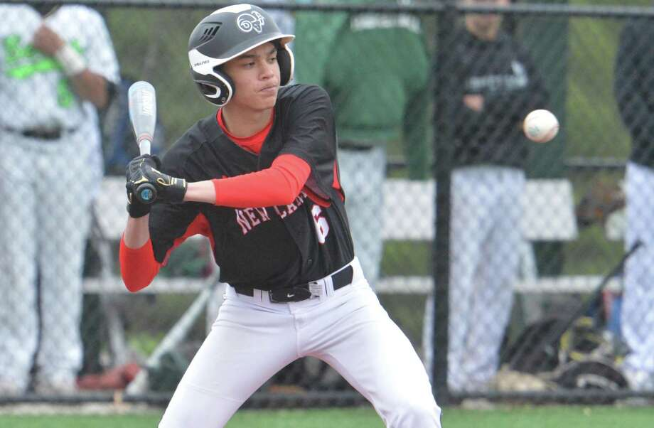 Ben Sarda and his New Canaan teammates scored 36 runs in three games last week. Sarda's single in the bottom of the ninth gave the Rams a 15-14 win over McMahon after nearly four hours of baseball. Photo: Alex Von Kleydorff / Hearst Connecticut Media / Norwalk Hour
