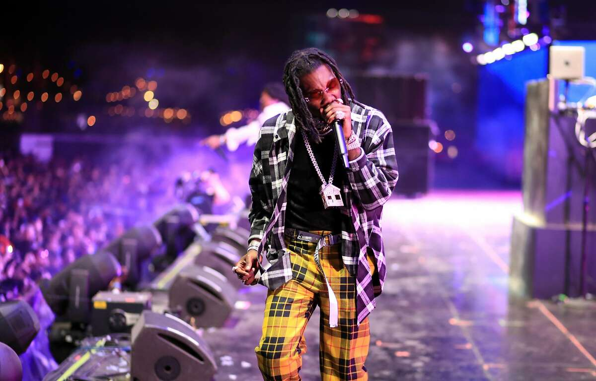 INDIO, CA - APRIL 22: Offset of Migos performs onstage during the 2018 Coachella Valley Music And Arts Festival at the Empire Polo Field on April 22, 2018 in Indio, California. (Photo by Christopher Polk/Getty Images for Coachella)