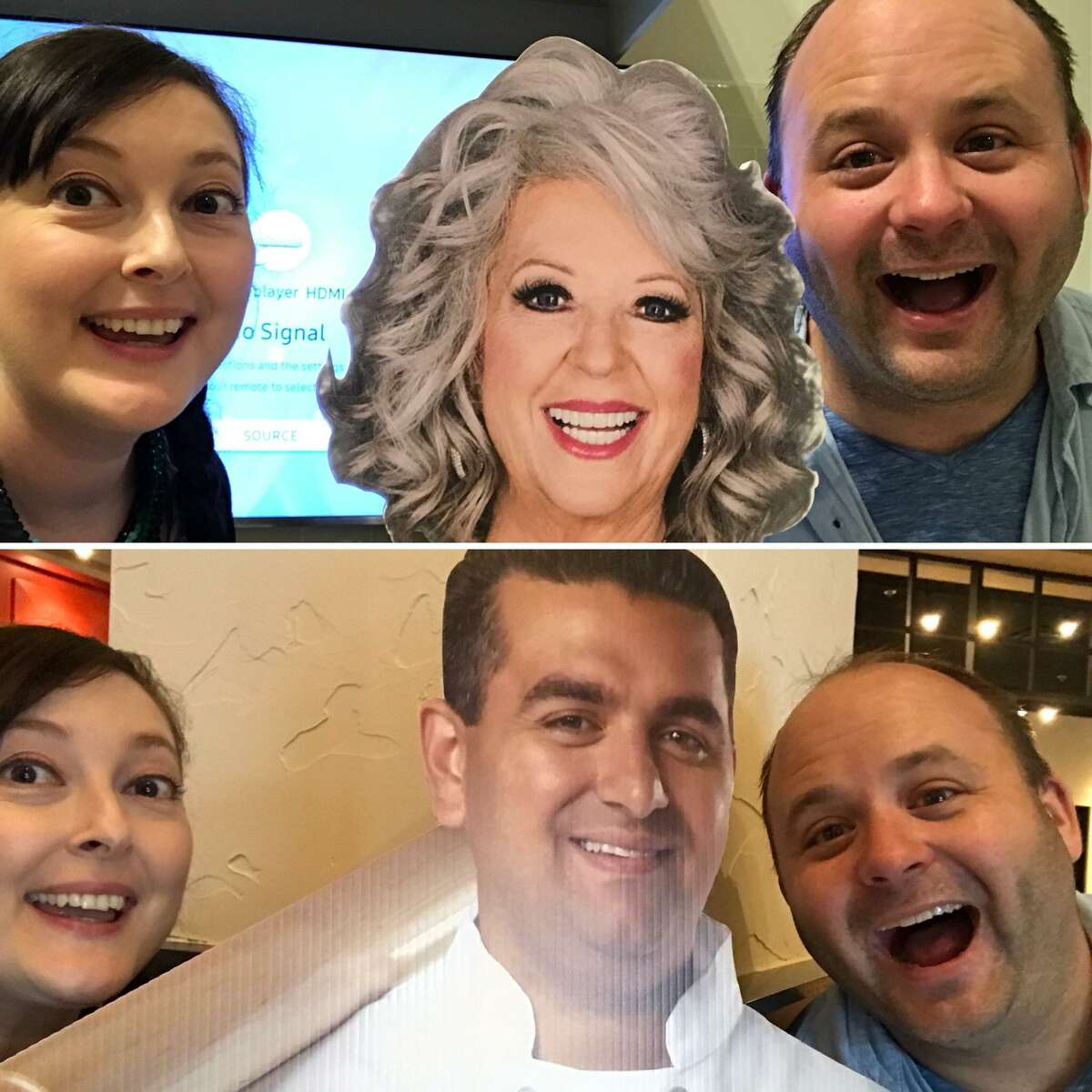 Taste Team members Emily Spicer and Chuck Blount and so happy to be part of the Paula Deen vs. Buddy V: Celeb Restaurant Smackdown.