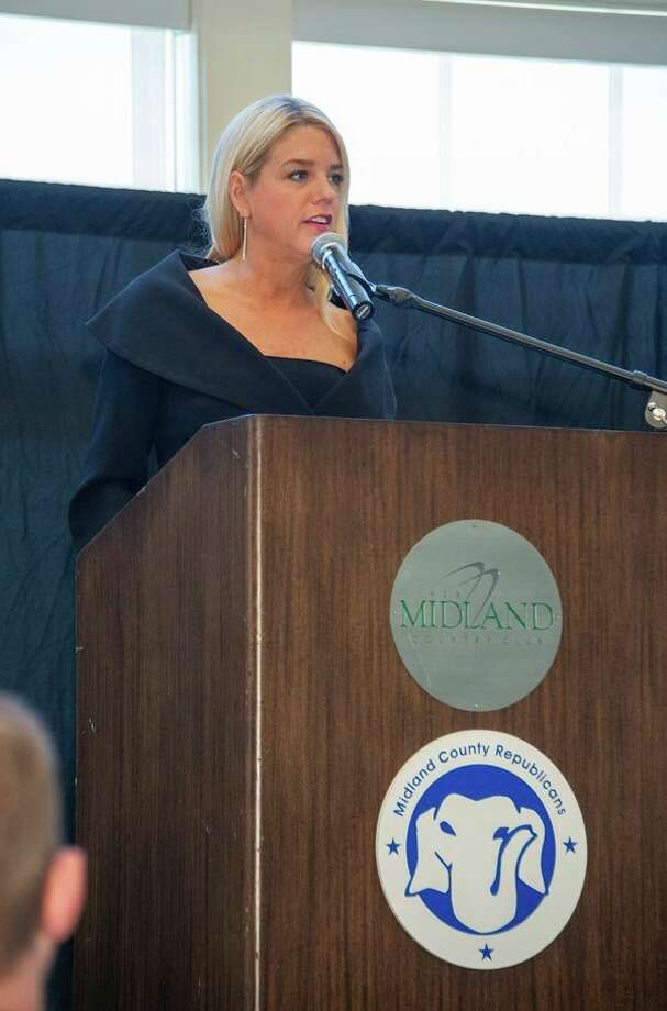 Florida Attorney General Pam Bondi speaks Monday at the Midland County Republican Dave Camp Breakfast. (Photo provided/Gary Bublitz)