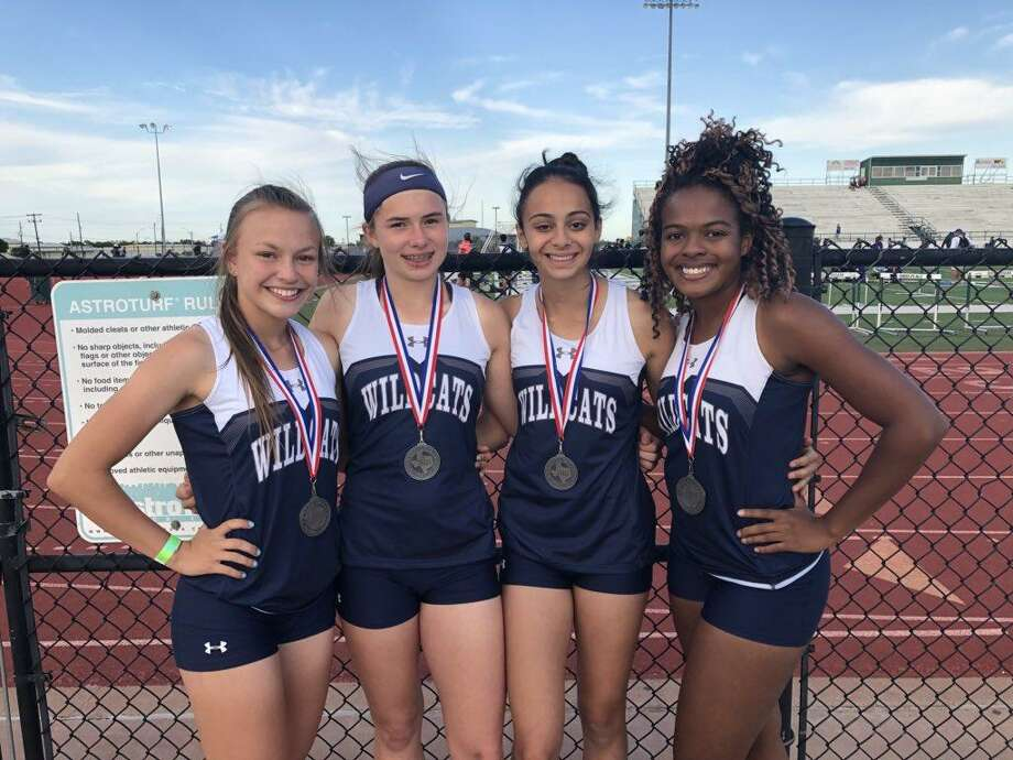 The 4x200 meter relay placed second (1:42.85) at the Area 19/20 meet, April 18-19, at Brenham High School and seventh (1:44.98) at the Region III-5A meet, April 27-28, at Turner Stadium in Humble.