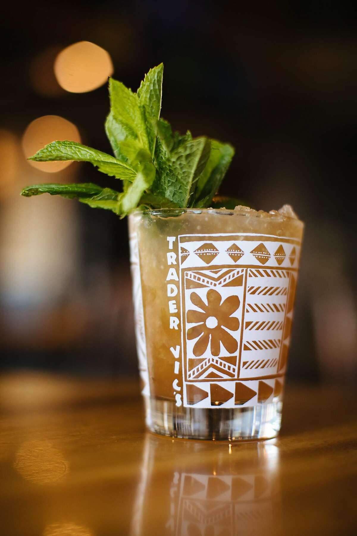 A mai tai at the bar that invented it: Trader Vic's.