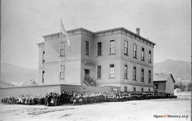 San Francisco's James Lick Grammar School as it appeared in 1890.  Photo courtesy of OpenSFHistory. Photo: OpenSFHistory/Courtesy