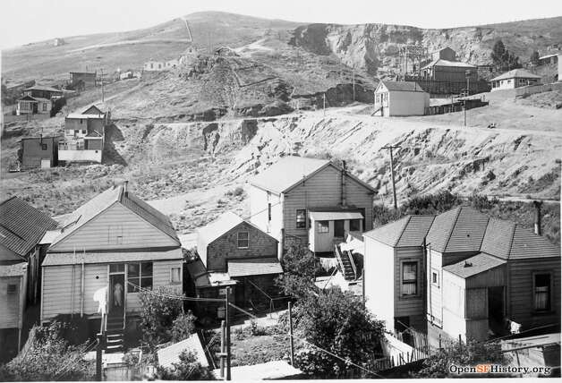 It looks like a different world altogether: 29th and Castro, circa 1910. The Gray Brothers quarry can be seen in the background; the company quarried Billy Goat Hill and Telegraph Hill for the rock to make bricks.  Photo courtesy ofOpenSFHistory. Photo: OpenSFHistory/Courtesy