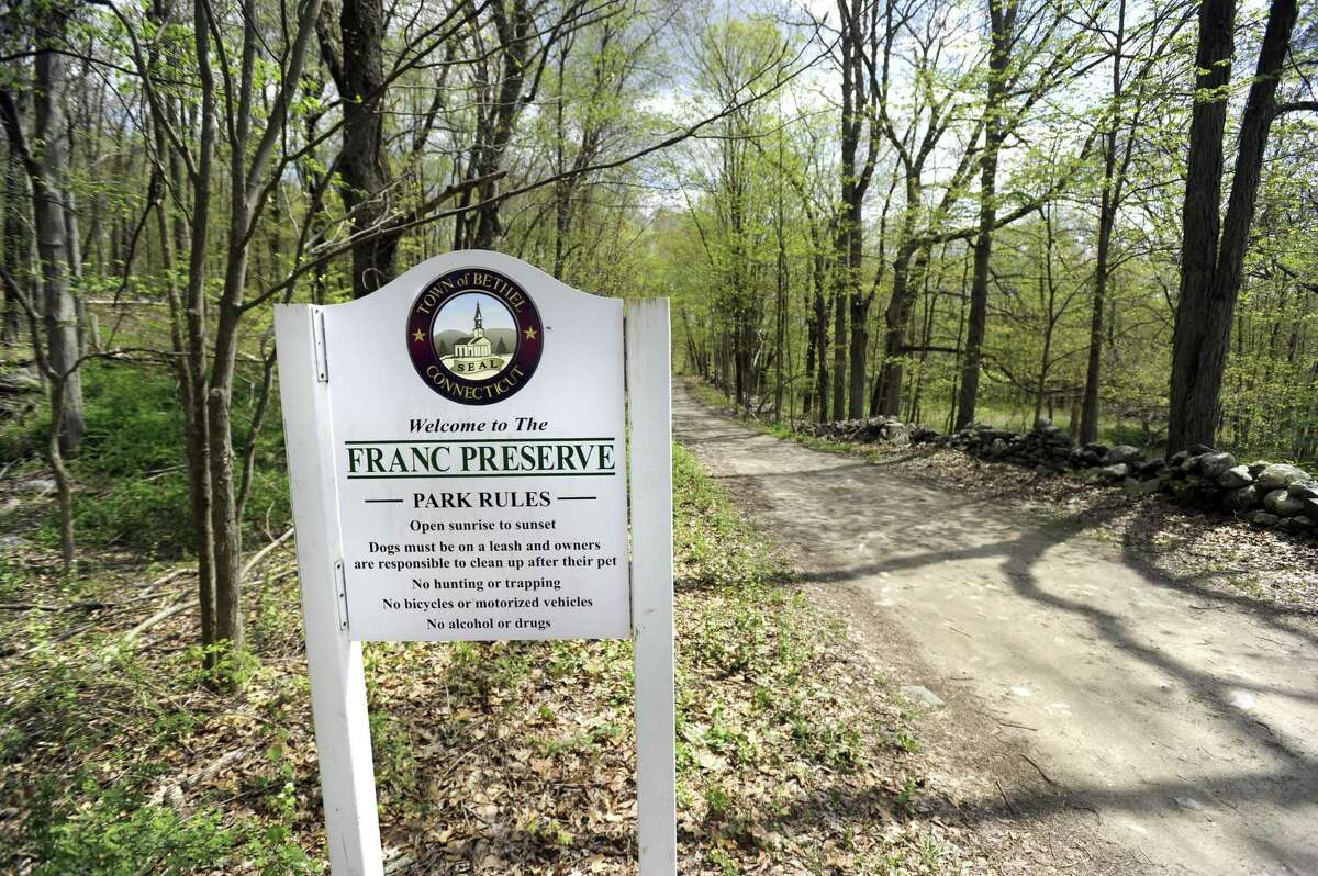 The 72-acre Franc Preserve in Bethel is open for passive recreation. Photo Monday, May 7, 2018.