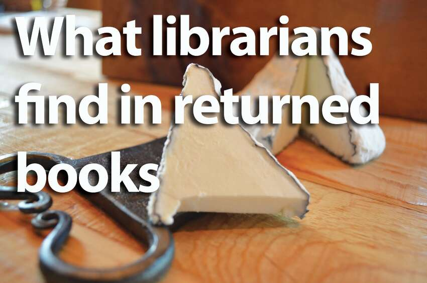 When a Washington state librarian took to Twitter to complain about the Kraft cheese slice left in a returned library book, other librarians chimed in with their bizarre finds. Here they are.