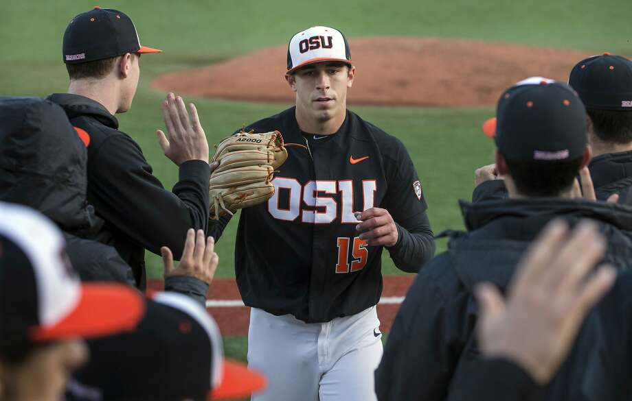 Oregon State pitcher Luke Heimlich pleaded guilty to molesting his 6-year-old niece when he was 15. Photo: RUTH FREMSON / NYT