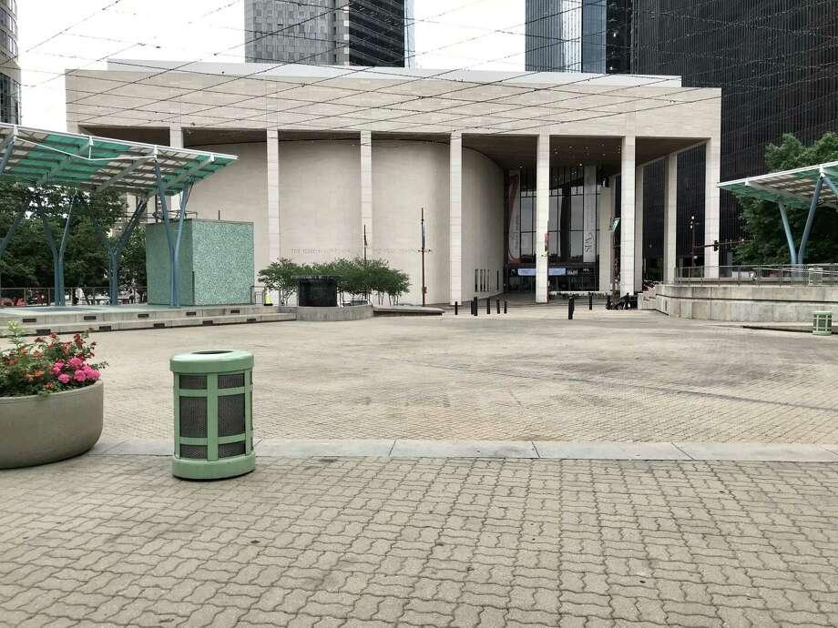 Welcome to Jones Plaza. Photo: Molly Glentzer, Houston Chronicle