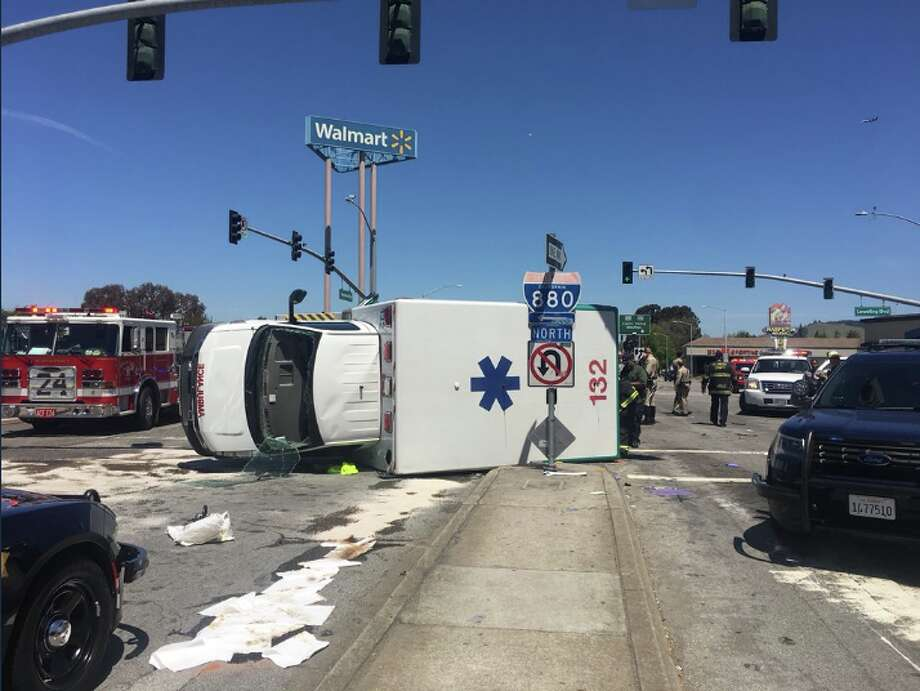 San Leandro woman dies after ambulance crashes on way to