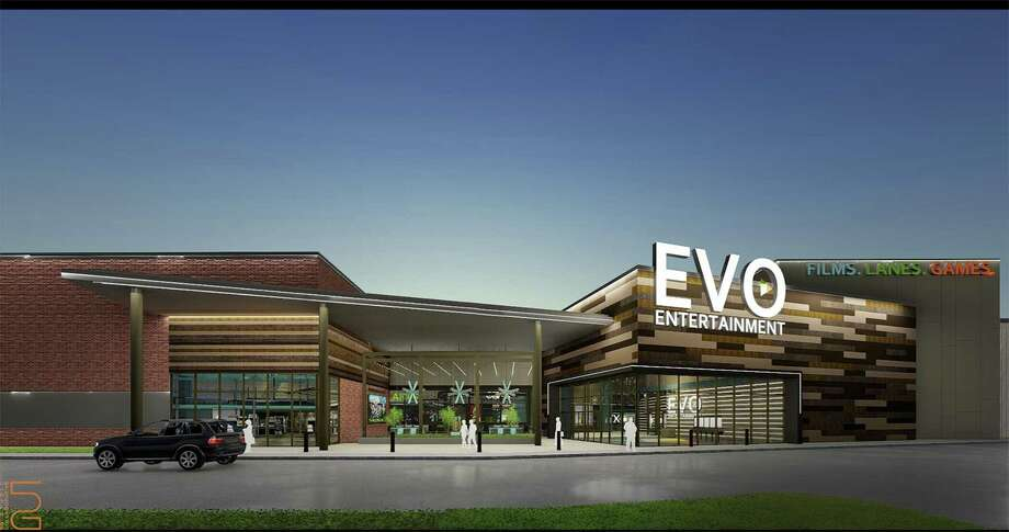 San Marcos-based Evo Entertainment Group plans to open a 73,000-square-foot entertainment megaplex with 10 dine-in movie theaters and 16 lanes of bowling in February 2019 at the new Wiederstein Ranch retail development in Schertz, the company announced recently. Photo: /