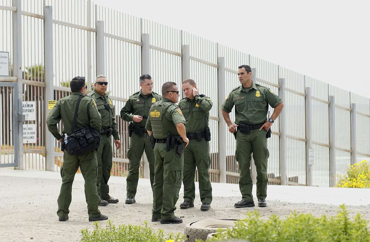 Border Patrol agents patrol the area near where Attorney General Jeff Sessions addresses the media during a press conference at Border Field State Park on May 7, 2018 in San Ysidro, CA. Sessions was on a visit to the border along with ICE Deputy Director Thomas D. Homan to discuss the immigration enforcement actions of the Trump Administration.