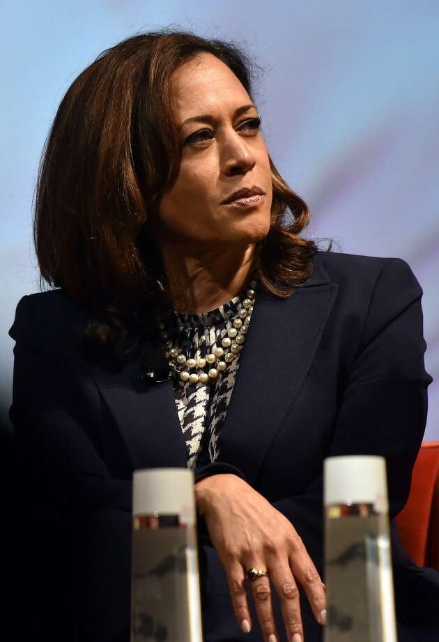 US Senator Kamala Harris attends the United State of Women Summit at the Shrine Auditorium in Los Angeles, on May 5, 2018. / AFP PHOTO / CHRIS DELMASCHRIS DELMAS/AFP/Getty Images Photo: CHRIS DELMAS, AFP/Getty Images