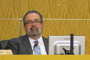 Houston ISD Deputy Superintendent Samuel Sarabia listens during an HISD school board meeting, Thursday, March 8, 2018, in Houston. ( Mark Mulligan / Houston Chronicle )