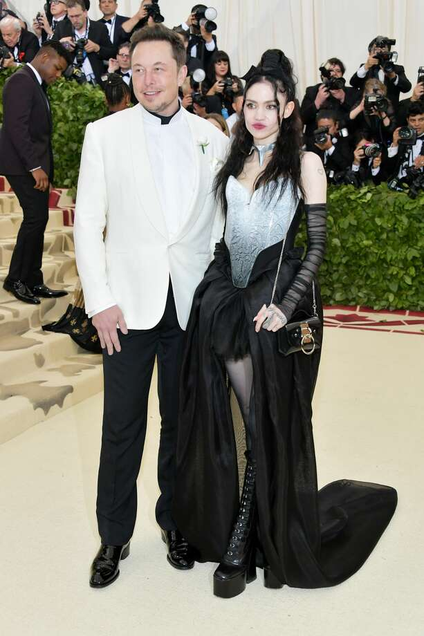 NEW YORK, NY - MAY 07:  Elon Musk and Grimes attend the Heavenly Bodies: Fashion & The Catholic Imagination Costume Institute Gala at The Metropolitan Museum of Art on May 7, 2018 in New York City.  (Photo by Neilson Barnard/Getty Images) Photo: Neilson Barnard/Getty Images