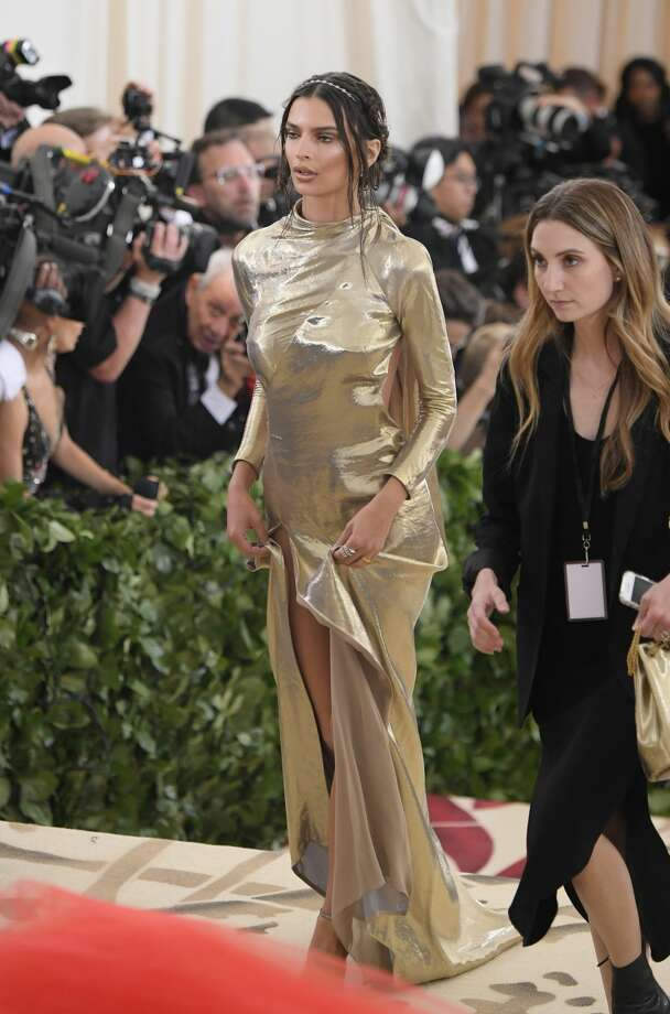 Emily Ratajkowski attends the Heavenly Bodies: Fashion & The Catholic Imagination Costume Institute Gala at The Metropolitan Museum of Art on May 7, 2018 in New York City. Photo: Mike Coppola/MG18/Getty Images For The Met Museum/Vogue