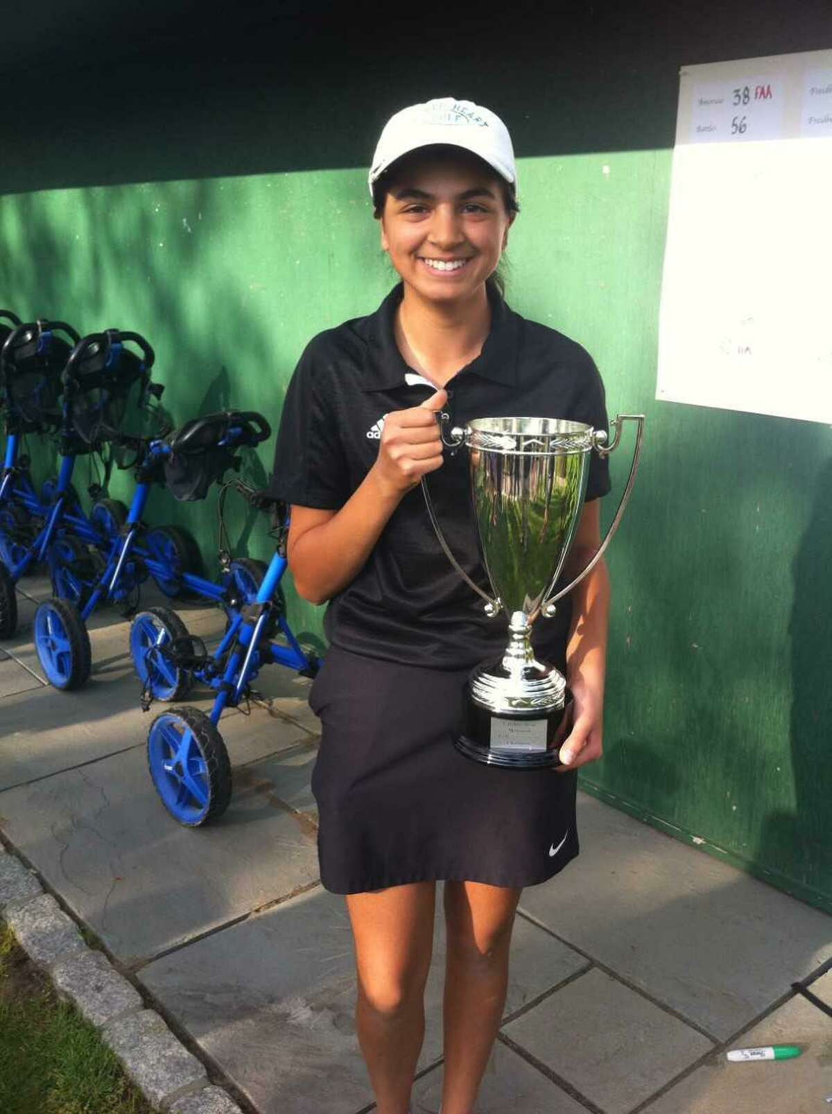 Lianna Amoruso of Sacred Heart won the Caroline Dym Memorial Golf Tournament Monday at Round Hill Club in Greenwich.