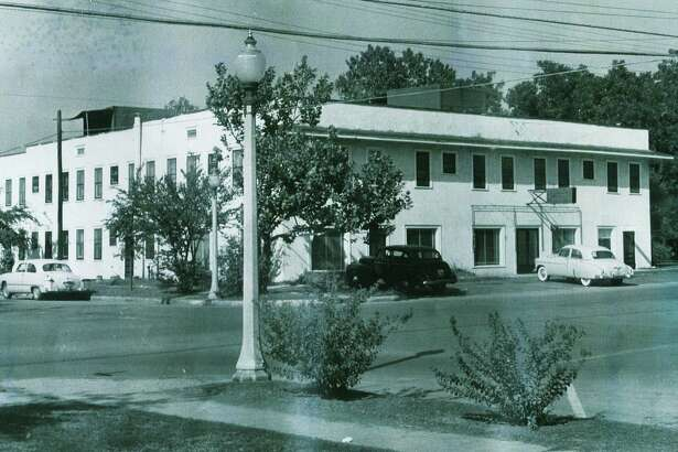 The Burch Hotel at Thompson and Phillips streets in Conroe. The Cables, in association with their friends the Falveys, began operating the hotel in 1936. After Mr. Cable's death in 1941, Tellie Rebecca Knighten Cable continued to run the hotel for 20 more years until her retirement.