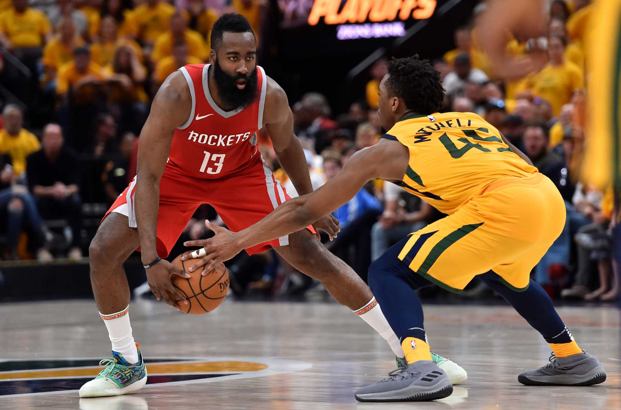 Image result for james harden vs donovan mitchell