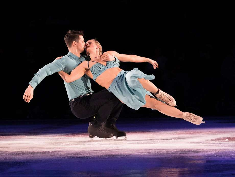 """Madison Hubbell, right, and Zachary Donohue in """"Stars on Ice"""" Photo: Sharon Sipple"""
