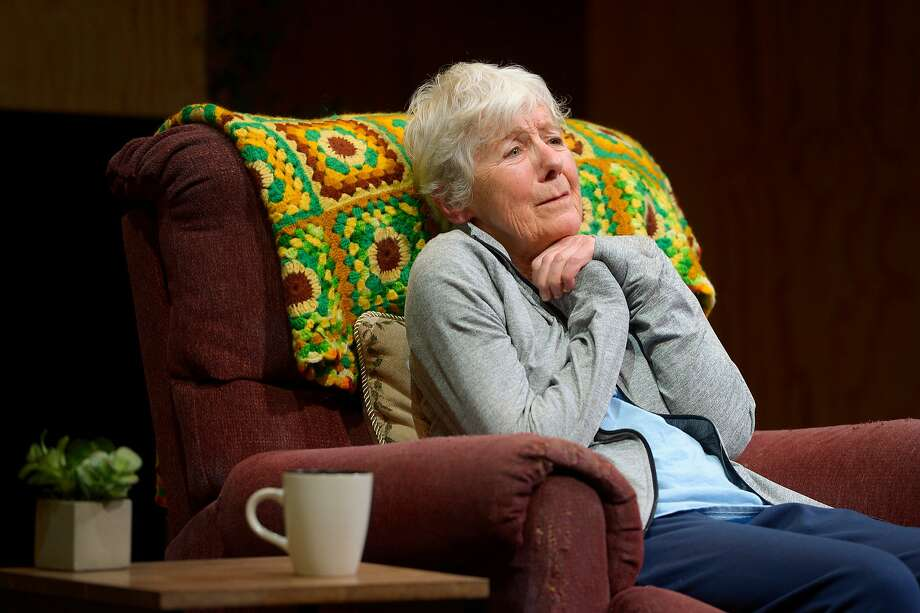 """Joy Carlin fights memory loss with a sci-fi creation in """"Marjorie Prime."""" Photo: Kevin Berne / Marin Theatre Company"""