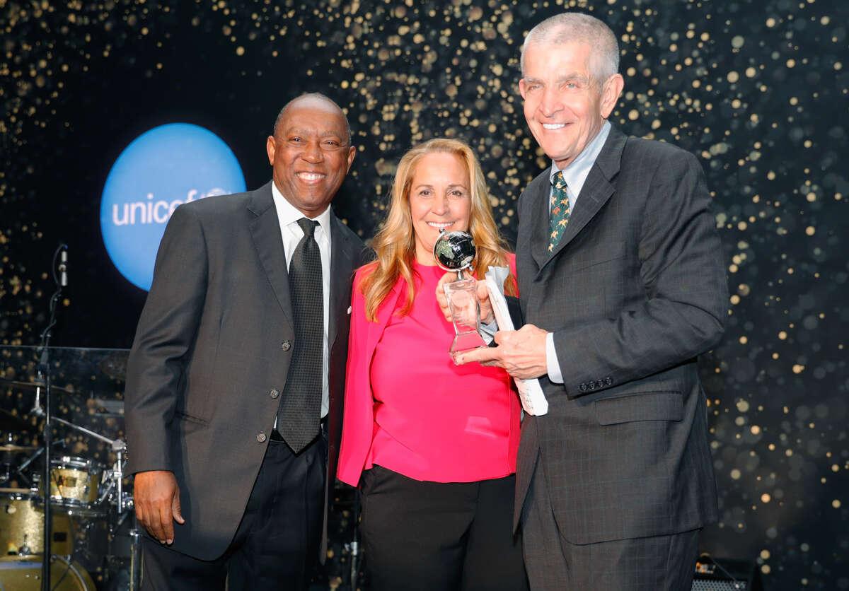 Mayor Sylvester Turner with Linda and Jim