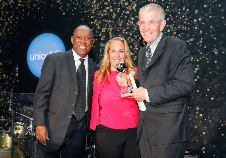 "Mayor Sylvester Turner with Linda and Jim ""Mattress Mack"" McIngvale Photo: Bob Levey"