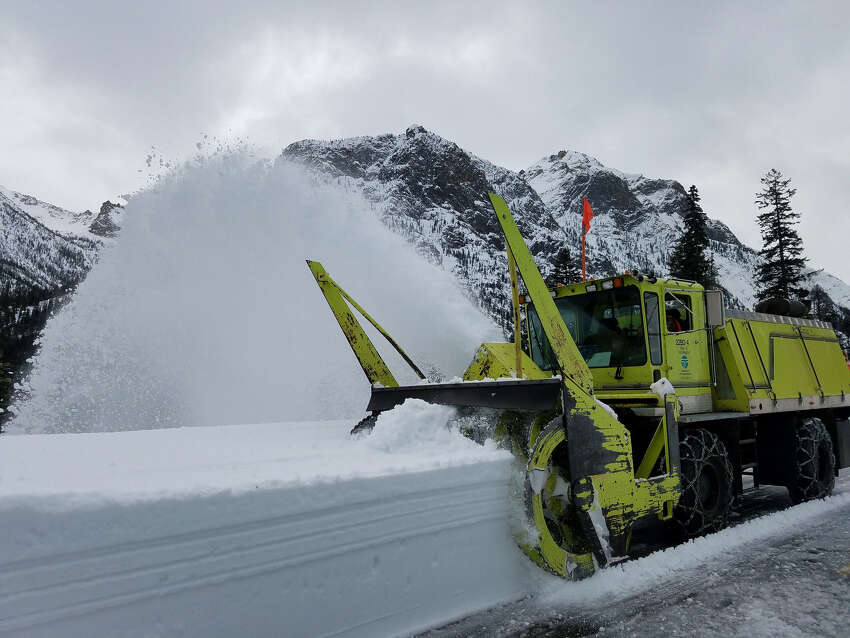 During the first week of clearing state Route 20, the snow blowers took on a big role.