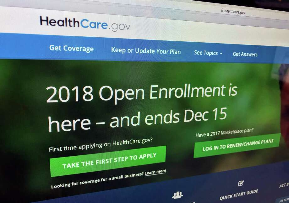 FILE - In this Dec. 15, 2017, file photo, the HealthCare.gov website is photographed in Washington. Object to abortion? You may be able to get an exemption from the Affordable Care Act tax penalty for people don't have health insurance. Expanded exemptions are part of a package of changes issued April 9, 2018, by the Centers for Medicare and Medicaid Services (AP Photo/Jon Elswick, File) Photo: Jon Elswick, STF / Associated Press / Copyright 2018 The Associated Press. All rights reserved.