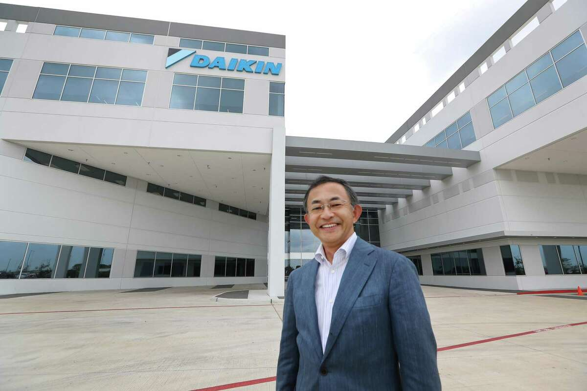 """Takeshi Ebisu, President and CEO of Daikin North America poses for a photo Wednesday, May 10, 2017, in Waller. Daikin's Waller plant opens on May 24. It is the world's largest building of this particular construction type (called """"tilt-wall""""). It's four million square feet, about the size of 40 city blocks, or 91 acres. The plant bring several thousand manufacturing jobs to Houston when it opens. They make air conditioning, heating and ventilation units. ( Steve Gonzales / Houston Chronicle )"""