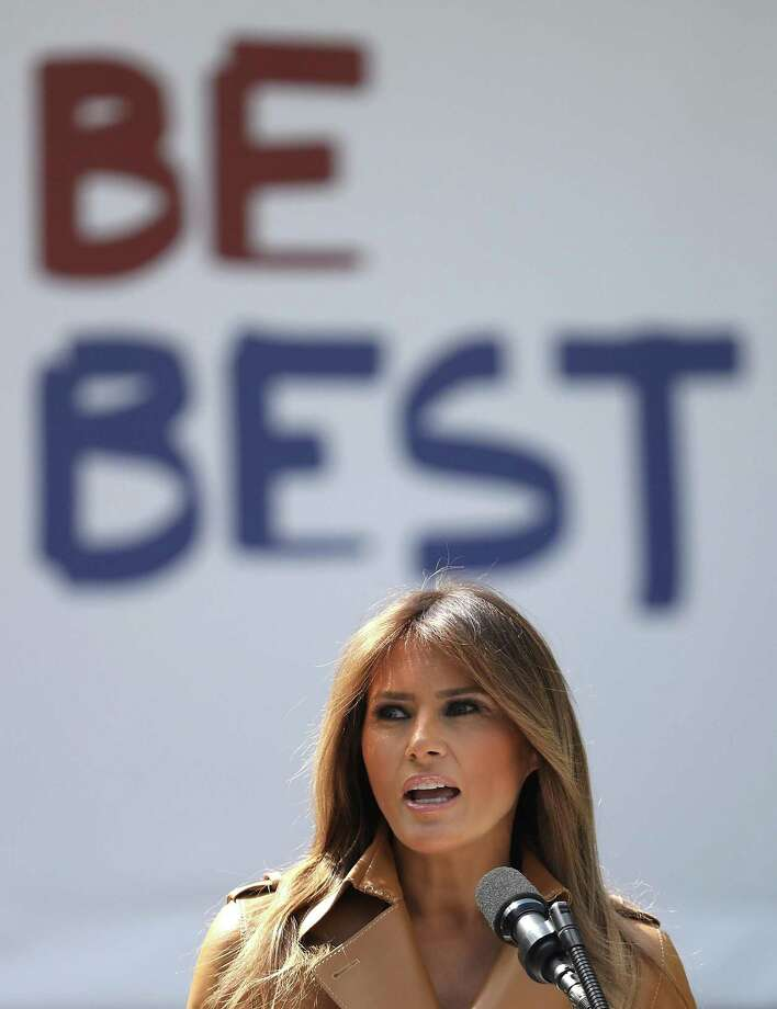 """The """"Be Best"""" campaign """"promoted"""" by first lady Melania Trump is drawing comparisons to suggestions made by the Obama administration. Photo: Win McNamee, Staff / 2018 Getty Images"""