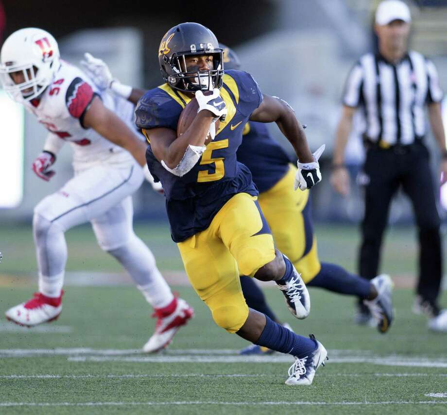 California running back Tre Watson (5) looks for open field during the third quarter of a football game against Utah, on Saturday, Oct. 1, 2016 in Berkeley, Calif. Photo: D. Ross Cameron, Freelance / Special To The Chronicle / online_yes