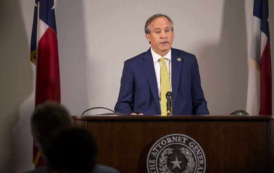 Texas Attorney General Ken Paxton speaks about a lawsuit he filed against the federal government to end DACA during a press conference in Austin, Texas, on May 1. Paxton is leading a seven-state coalition in the lawsuit. Photo: Nick Wagner /Associated Press / Austin American-Statesman