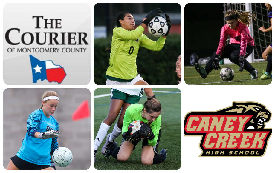 Conroe's Amber Zarate, Montgomery's MaKaylin Nicholson, The Woodlands' Ky Hudson, New Caney's Kali Helms and Caney Creek's Alyn Zamudio are The Courier's nominees for Goalkeeper of the Year.
