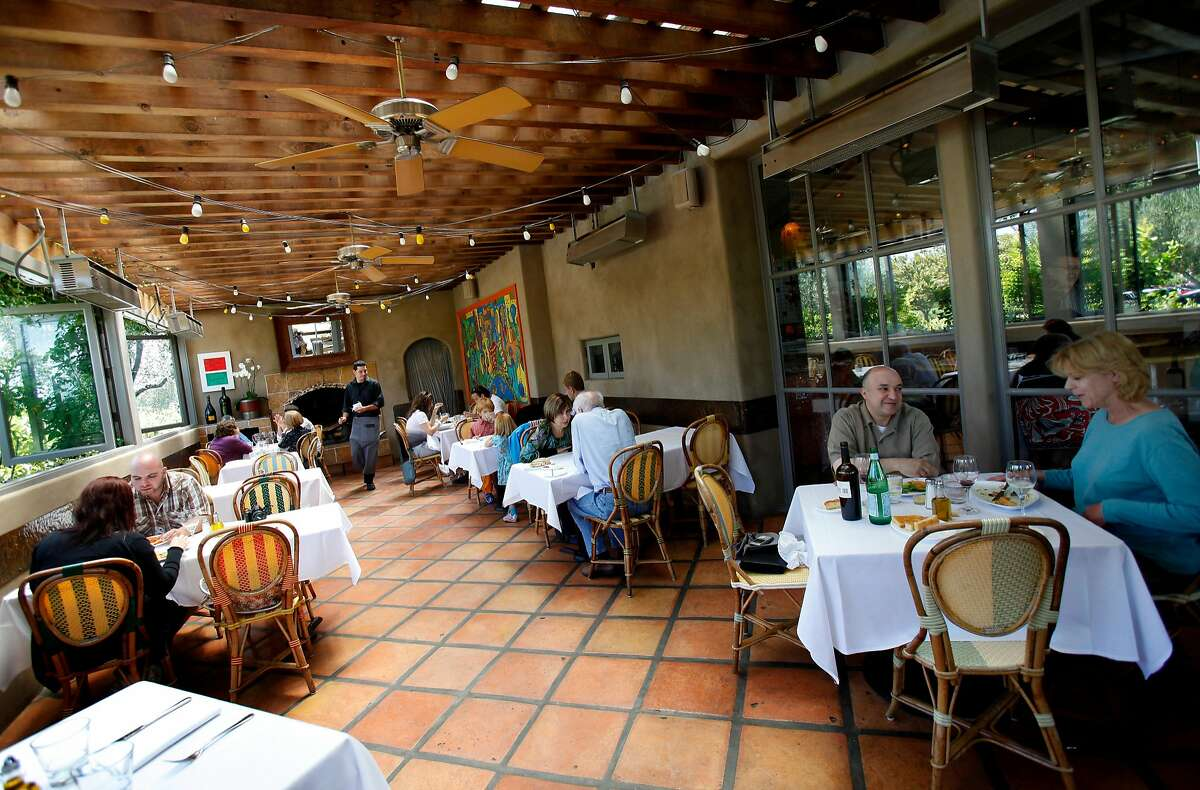 A variety of dining rooms, some inside and out, greet diners at the popular Bistro Don Giovanni. Various popular restaurants in Napa, Calif. including Bistro Don Giovanni, Angele, Morimoto Napa and eating places in the Oxbow Public Market.