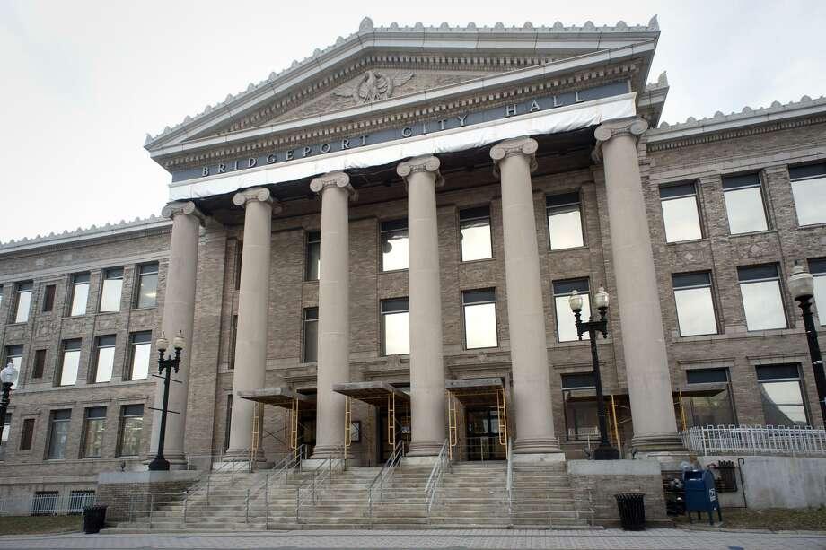 Exterior, Bridgeport City Hall in Bridgeport, Conn. March 1, 2018. Photo: Ned Gerard / Hearst Connecticut Media / Connecticut Post