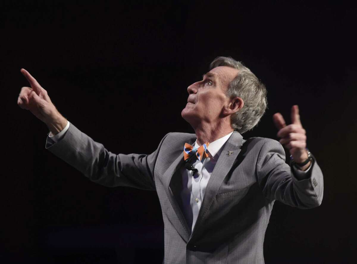 Bill Nye speaks during the Planned Parenthood South Texas fundraising luncheon.