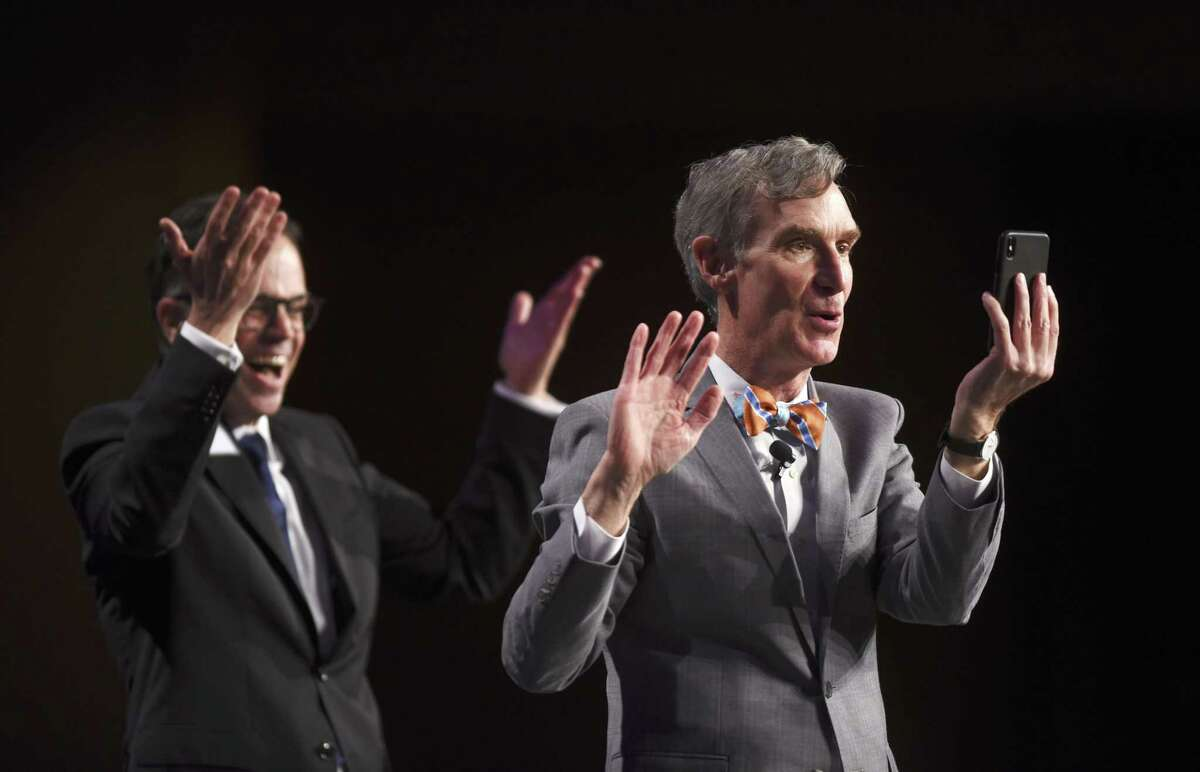 Bill, Bill, Bill! Bill Nye the Science Guy has explored evolution, climate change and UTSA enough to call it