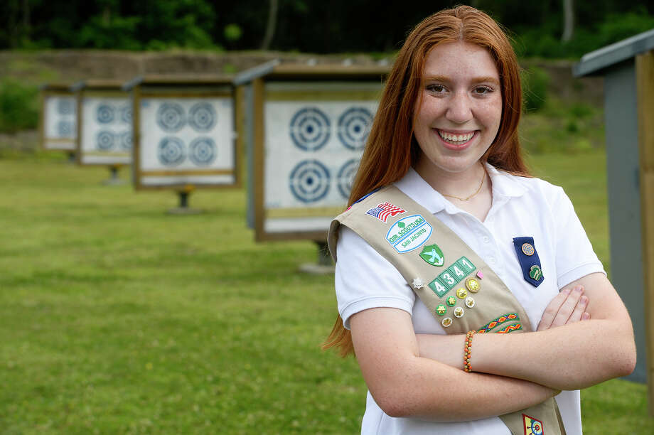 Payton Weinbaum worked with the City of Beaumont to get a public archery range built at Tyrrell Park for her Girl Scouts silver award. Leonard is now working with Cody Sahualla of the Lamar University archery club to start a youth archery program for her gold award. Photo taken Friday 5/4/18 Ryan Pelham/The Enterprise Photo: Ryan Pelham / ©2018 The Beaumont Enterprise/Ryan Pelham