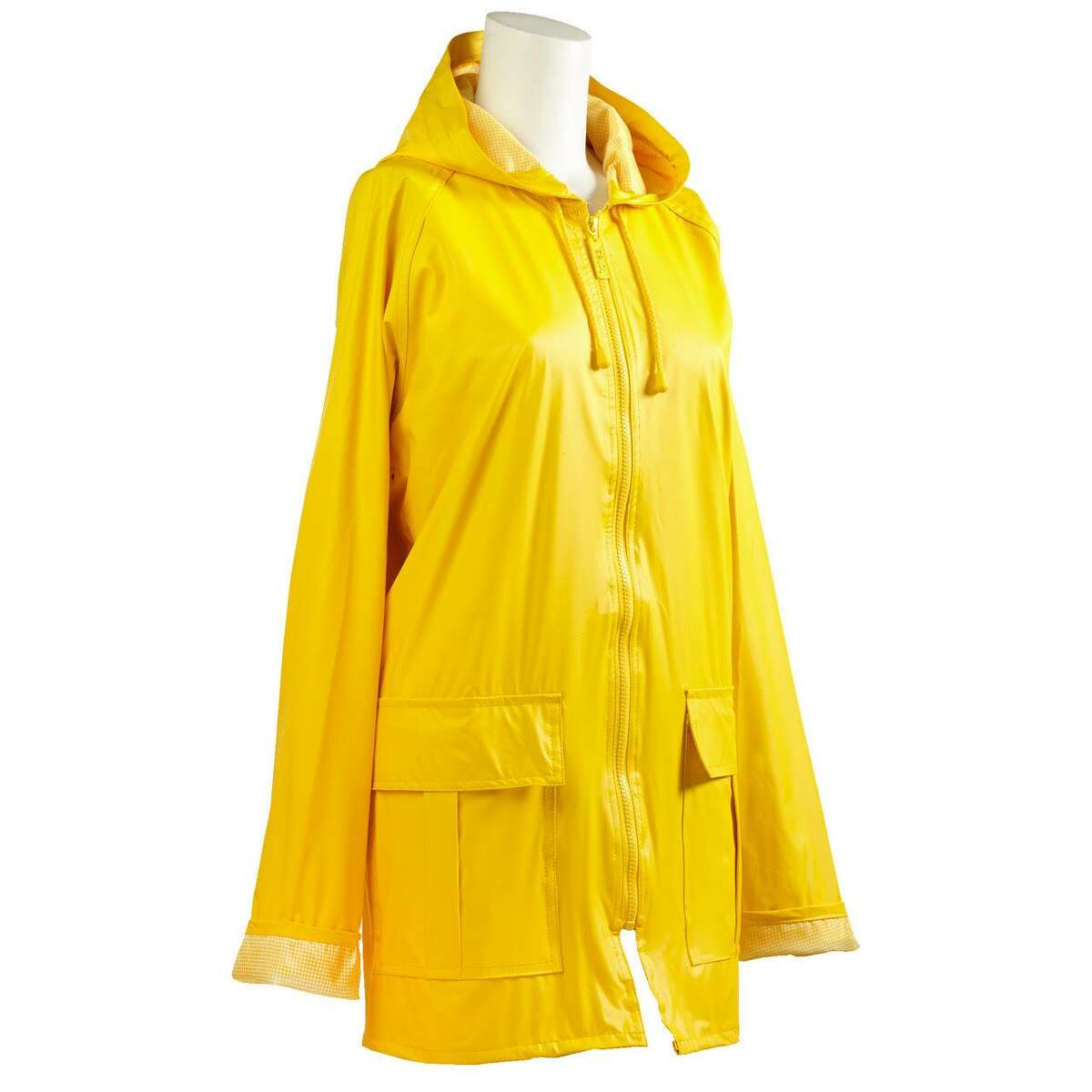 This easy-to-pack rain slicker by Totes brightens up a dreary day in several vibrant colors.