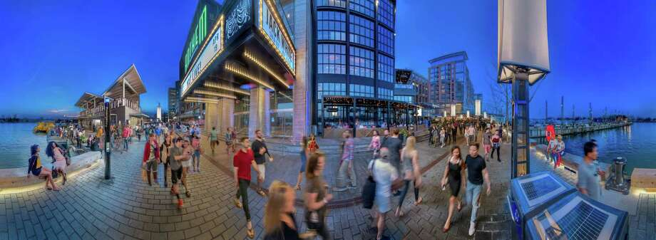 A panoramic view of the new Wharf development, including the new concert venue Anthem, in Washington, D.C. This image is a composite of multiple exposures. Photo: Photo For The Washington Post By Sam Kittner ONE TIME USE WITH THIS STORY / For The Washington Post