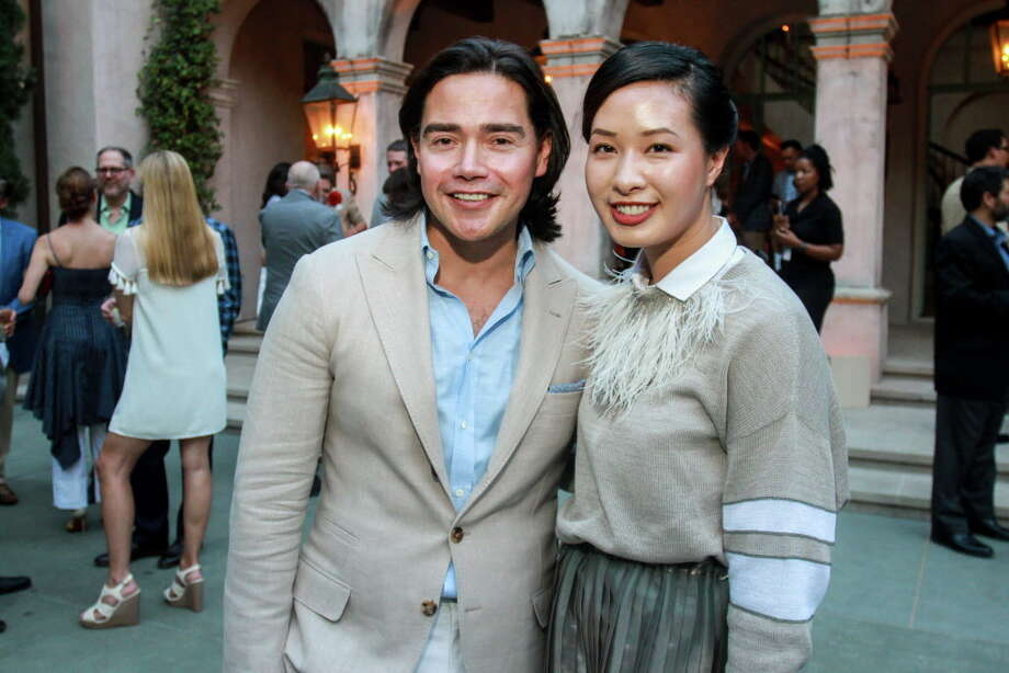 "Alex Lopez and Kimberly Luu at Recipe for Success's ""Delicious Alchemy"" dinner. Photo: Gary Fountain, For The Chronicle / Copyright 2018 Gary Fountain"